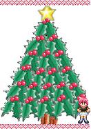 等身大クリスマスツリーに司会AMAZON驚喜!