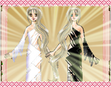 ふたりのハートがひとつに!シンメトリードレス☆ブラック&ホワイト合体!