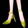 Kasumi Kiriさま04:「金のパンプス」足首の飾りはパンプスとセットです。