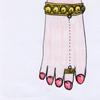 ライラ ユノーさま01:「踊り子のアンクレット」すずやかな鈴の音。本物のゴールドの輝きが足元をセンスアップ