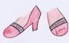 ライラ ユノーさま03:「収穫祭の靴」やわらかい革の靴。レースリボンがポイント。