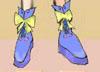 レイア オアシスさま01:「ちょうちょのスカイブルーブーツ」それは蝶が空を舞う様に…