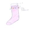 シルバー シルスティアさま01:「ポンポンくつ下」レースからポンポンまでは糸なので、歩くたびに揺れてかわいいのではないかと思います!最初はクツでデザインを考えてましたが、描いたら靴下に(笑)。靴下のカラーとポンポンのカラーバリエーションはもっといろいろあったら最高ですよね♪