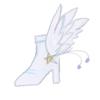 シルバー シルスティアさま03:「ヘルメスブーツ(天使のブーツor翼のブーツ)」ギリシア神話のヘルメス神をイメージしたつもりです。ダイナには通じない神なので、「天使のブーツ」または「翼のブーツ」?