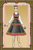 イシスさまSS01:収穫祭の洋服と同じ刺繍が刺してある靴。収穫祭にはこの衣装を着て踊り、感謝を奉げる。