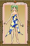 イシスさまSS04:フーシア風のプリント柄サンダル